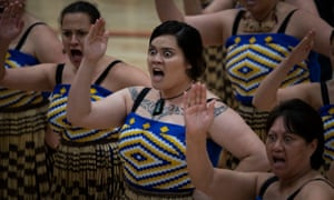 Women perform the haka in New Zealand