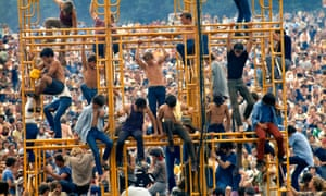 Half a million hippies descended on Woodstock in August 1969.