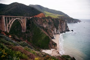 Bixby Creek Bridge on Highway 1 in Big Sur.