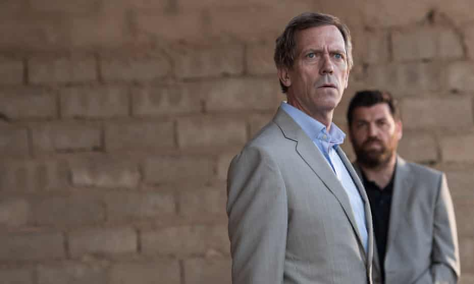 'I should have known something was wrong' ... Roper (Hugh Laurie) with Tabby (Hovik Keuchkerian).