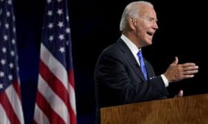 Joe Biden speaking during the Democratic convention