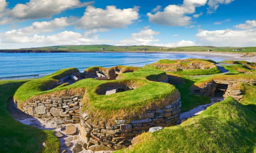 The neolithic settlement of Skara Brae, circa 3000 BC, the best preserved groups of prehistoric houses in Western Europe