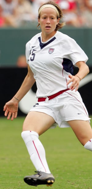 Megan Rapinoe in action for the US in 2006.