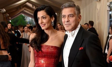 """China: Through The Looking Glass"" Costume Institute Benefit Gala - ArrivalsNEW YORK, NY - MAY 04: Amal Clooney and George Clooney attend the ""China: Through The Looking Glass"" Costume Institute Benefit Gala at the Metropolitan Museum of Art on May 4, 2015 in New York City. (Photo by Larry Busacca/Getty Images)"