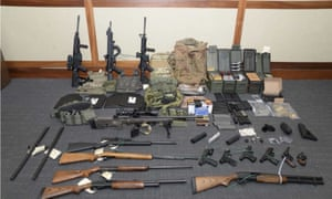 The firearms and ammunition that was in the motion for detention pending trial in the case against Christopher Paul Hasson.