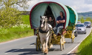 A Gypsy caravan in Wharfedale, Yorkshire