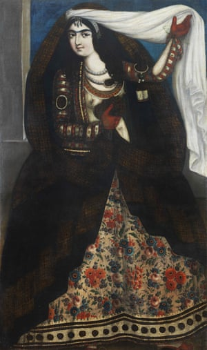 Young woman wearing a chador, circa 1844-1850, by an anonymous artist