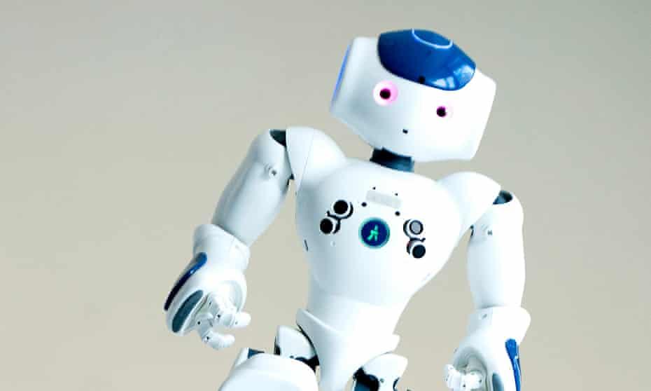 A robot at Edinburgh University's school of informatics.