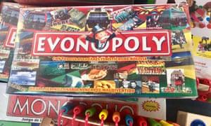 Evonopoly for sale in a market in La Paz.