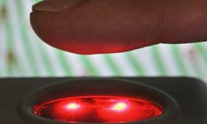 A portable fingerprint scanner i
