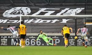 matheus pereira, west bromwich albion'a galibiyet vermek için maçtaki ikinci penaltısını evine attı.