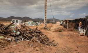 Houses constructed from dumped rubbish in El Barranquete shantytown