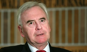 John McDonnell speaking during at the Wall Street Journal (WSJ) CEO Council event in London