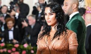 Kim Kardashian West at the Met gala: too sexy for Kanye.