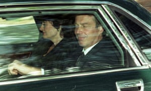 Tony Blair and his wife Cherie arrive at Balmoral