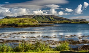 Isle of Canna, where world's largest salmon producer plans to install eight fish farm cages.