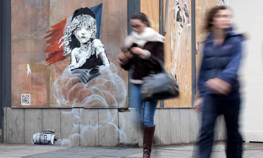 Banksy London mural