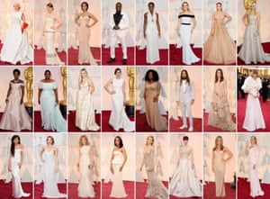 Oscar outfits all white, 50 shades of pale
