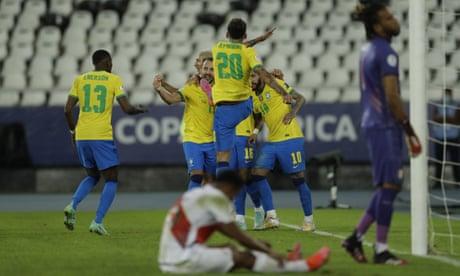 Copa América: Brazil hammer Peru to stay unbeaten