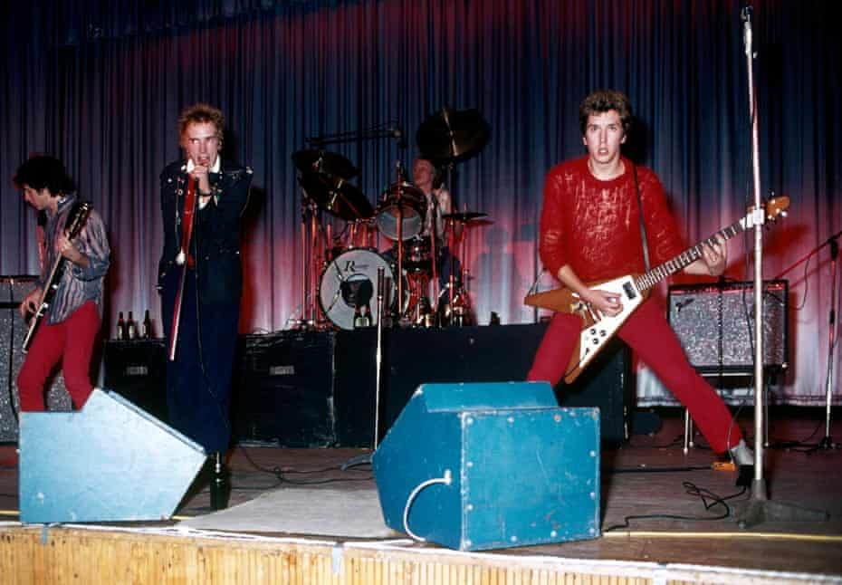'I feel like my true self on stage': Lydon, centre, with the Sex Pistols at Dunstable's Queensway Hall, October 1976