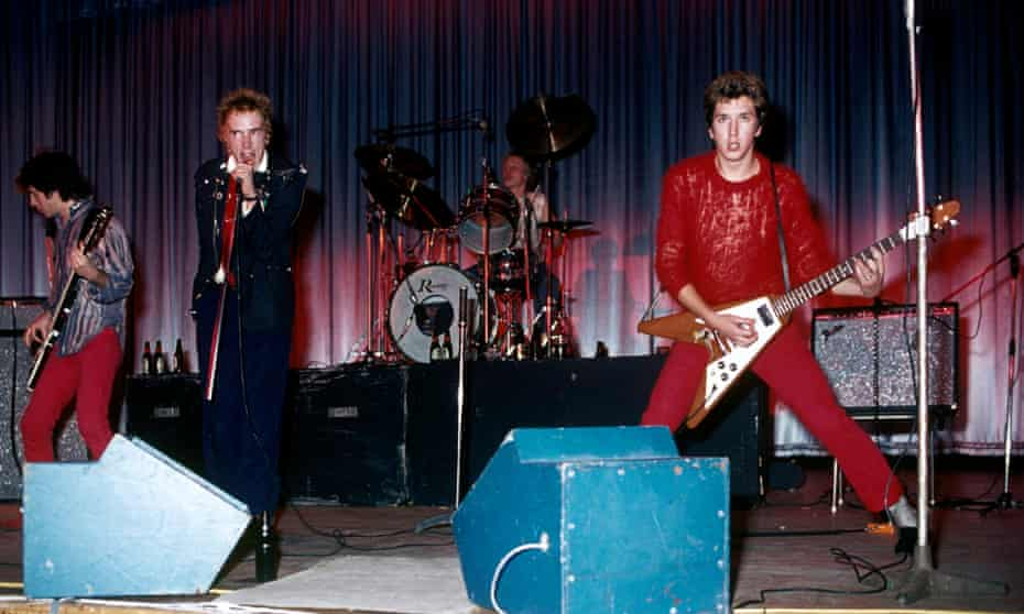The Sex Pistols at Queensway Hall, Dunstable, October 1976. 'Sanneh pledged his allegiance to punk in high school'
