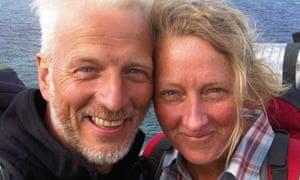 Raynor Winn, author of The Salt Path, with her husband Moth