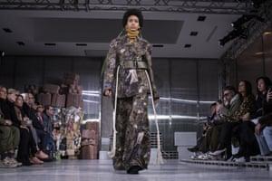 Model Manuela Sanchez for Marni during Milan fashion week