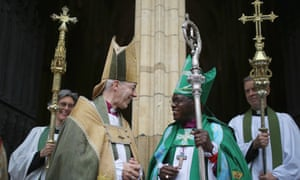 The archbishop of York, John Sentamu, right, and the archbishop of Canterbury, Justin Welby.