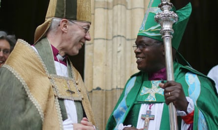The archbishop of Canterbury, Justin Welby, left, and the archbishop of York, John Sentamu