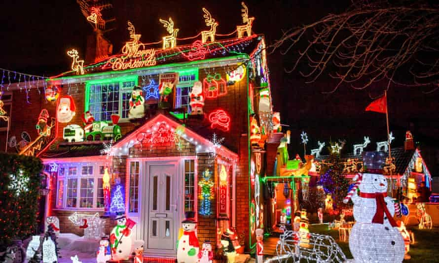 Christmas lights at a house in Brentry, Bristol, where the building is decked out with thousands of festive bulbs and displays each year. PA Photo. Picture date: Tuesday December 10, 2019. Photo credit should read: Ben Birchall/PA Wire