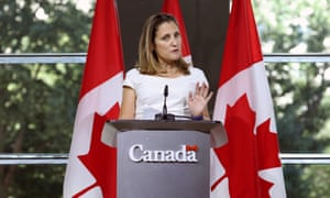 Chrystia Freeland. Canadian officials insisted her relationship with the US was 'cordial'.