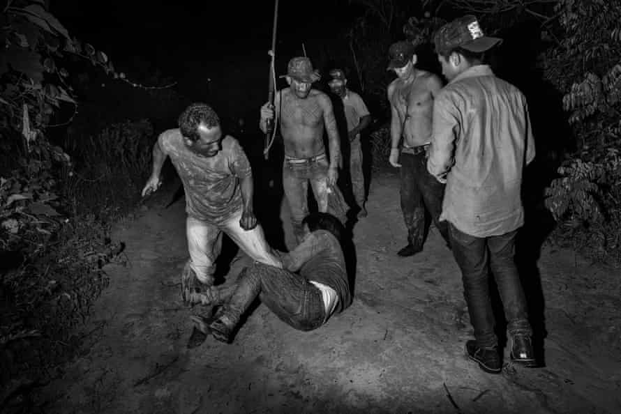 Members of the Guajajara forest guard patrolling the Arariboia indigenous reserve in Maranhao state beat another indigenous man whom they suspect of collaborating with illegal loggers.