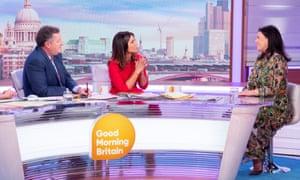 Kirstie Allsopp (right) with Piers Morgan and Susanna Reid on Good Morning Britain, November 2019