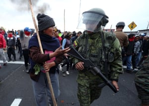 Indigenous protesters clash with security forces in Cotopaxi, Ecuador