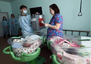 A new mother casts her vote from the maternity ward in hospital