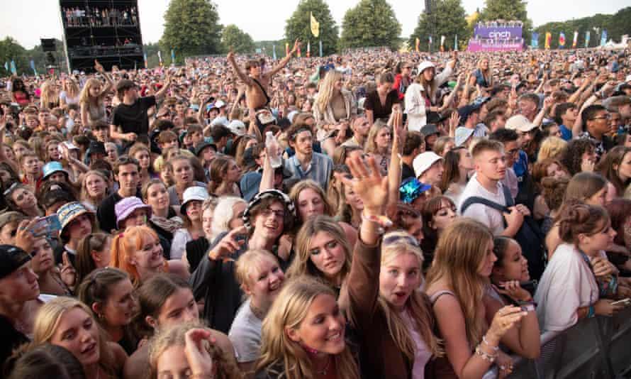 Festivalgoers at Latitude, Henham Park, Suffolk, 23 July.