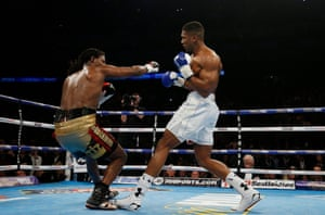 Joshua connects with a massive right hand.
