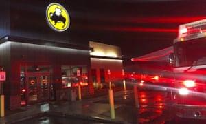 Emergency crews at the Buffalo Wild Wings restaurant in Burlington, Massachusetts.