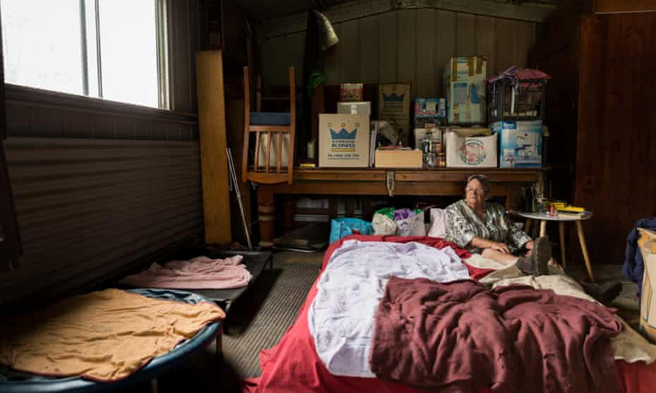 Lindy Marshall, a resident of Verona, NSW who lost her home in the bushfires and is still living in her shed