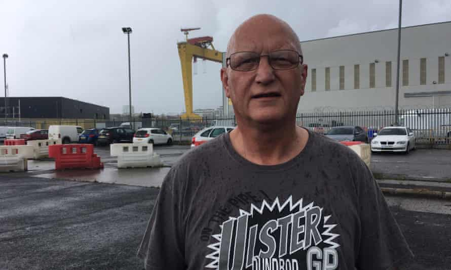 Steven McDowell, a former contractor, outside Harland and Wolff.