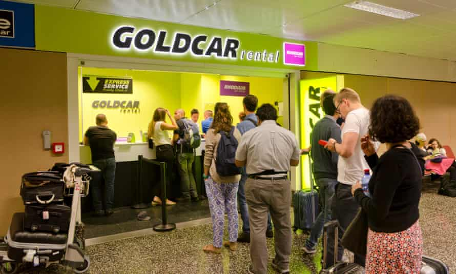 Goldcar office at an airport