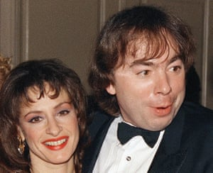 'The poor guy' … LuPone and Andrew Lloyd Webber pre-feud in 1988.
