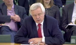 David Davis at the Brexit committee