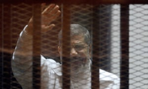 Mohamed Morsi during a trial in 2015