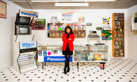 'It was magical to see the different films': Bansal in a recreation of her father's video rental shop