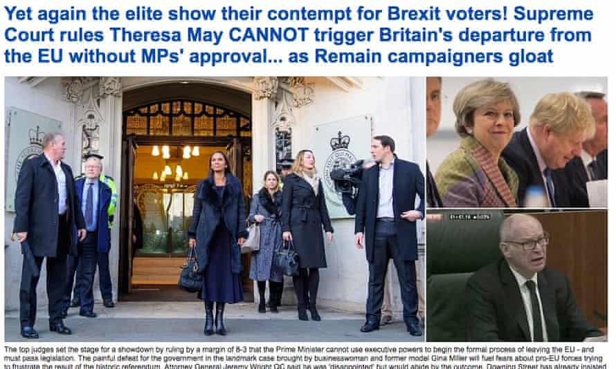 Daily Mail website front