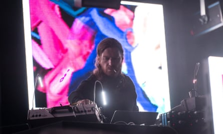 Aphex Twin performing at London's Field Day Festival, 3 June 2017.
