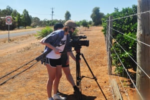 Katherine Stoner shooting her documentary in Mildura