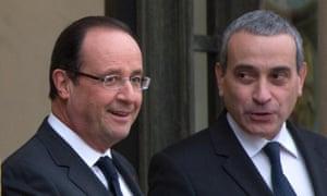 French president François Hollande (left) with Laurent Stéfanini at the Elysée Palace in Paris.