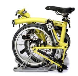 A Brompton fold up bicycle